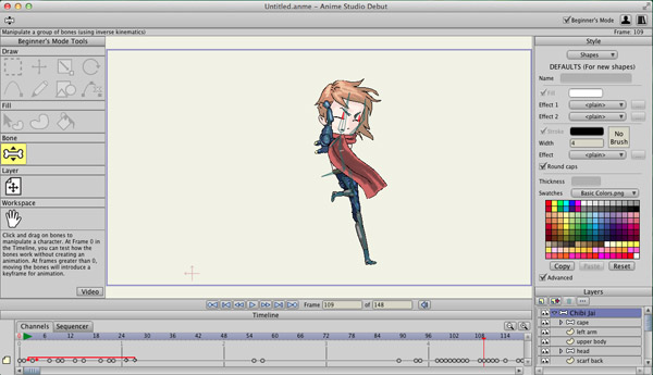 anime studio 2d animation software