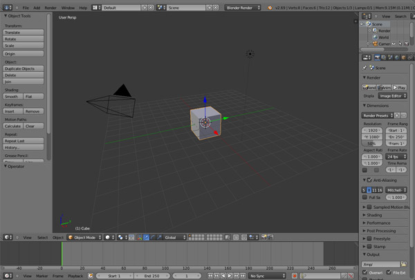 blender 3d animation software