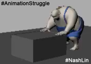 Animation Case Study Fat Character Pushing Box