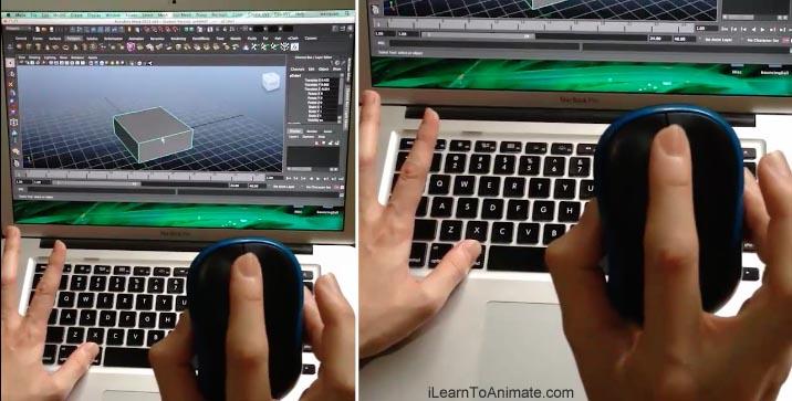 3d animation class mouse