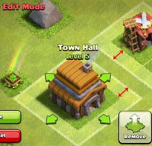 clash of clan building 1 tile distance