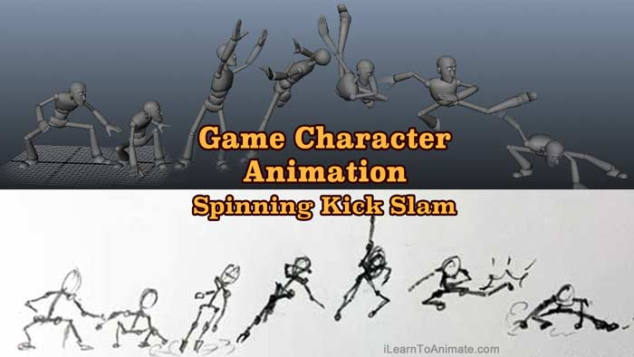 Game Character Animation Process – Spinning Kick Slam